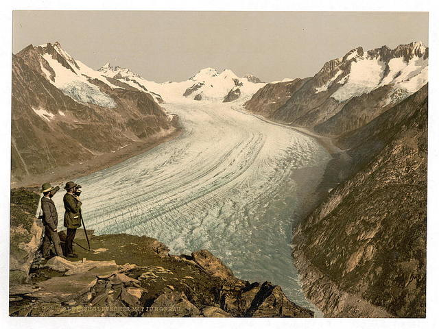 [Eggishorn, Grand Aletsch Glacier, with Jungfrau, Monch and Eiger, Valais, Alps of, Switzerland]