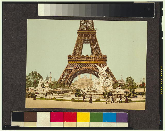 [Eiffel Tower and fountain, Exposition Universelle, 1900, Paris, France]