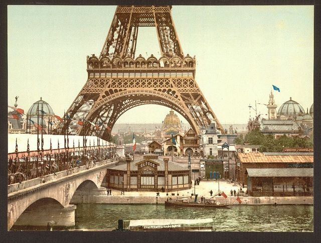 [Eiffel Tower and general view of the grounds, Exposition Universelle, 1900, Paris, France]