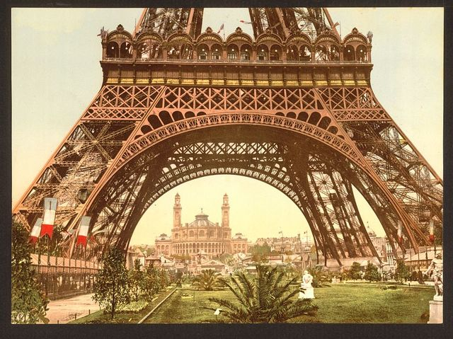 [Eiffel Tower and the Trocadero, Exposition Universelle, 1900, Paris, France]