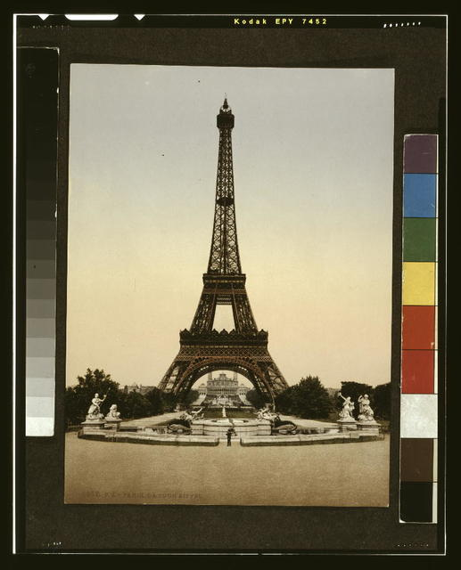 [Eiffel Tower, full-view, looking toward the Palais du Trocadéro, Paris, France]