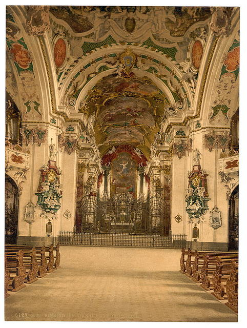 [Einsiedeln, interior of Church, Lake Lucerne, Switzerland]