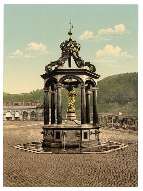 [Einsiedeln, the fountain, Lake Lucerne, Switzerland]
