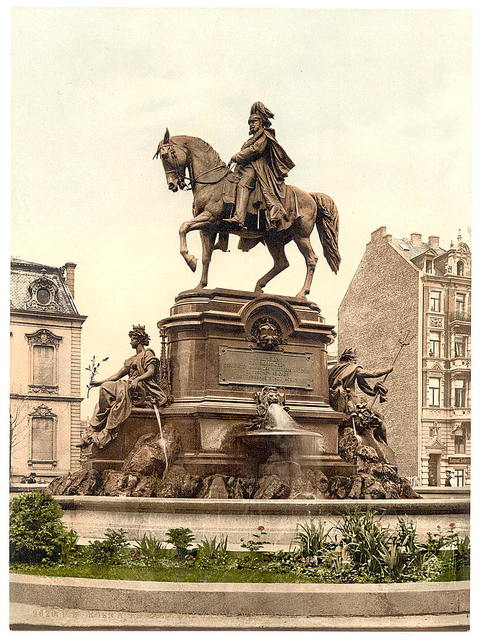 [Emperor William's Monument, Cologne, the Rhine, Germany]