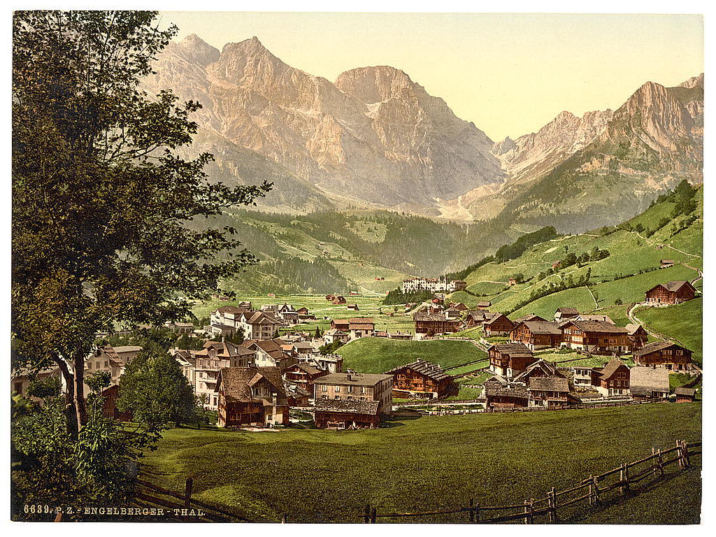 [Engelberg Valley and Juchlipass, Bernese Oberland, Switzerland]