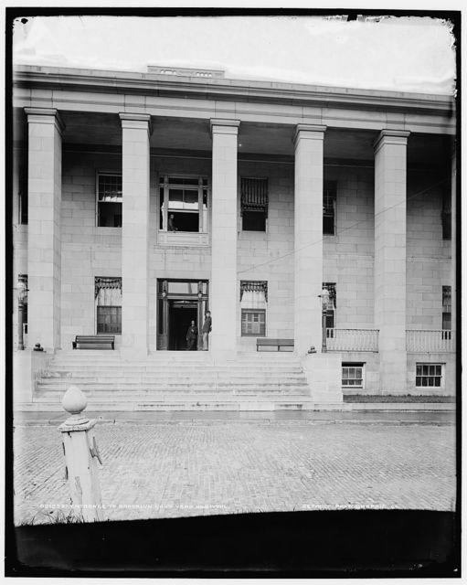 Entrance to Brooklyn Navy Yard Hospital