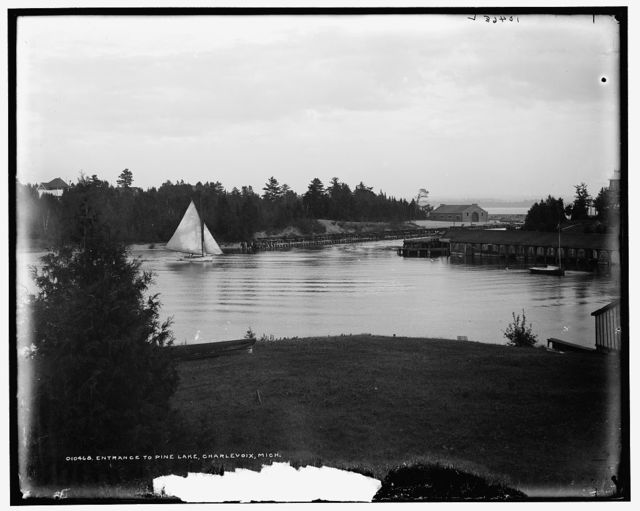 Entrance to Pine Lake, Charlevoix, Mich.