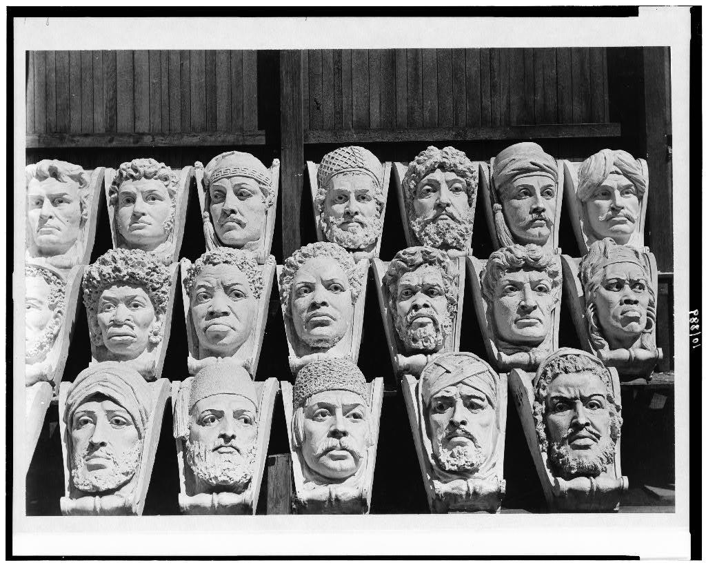 [Ethnological heads for the Jefferson Building, Library of Congress]