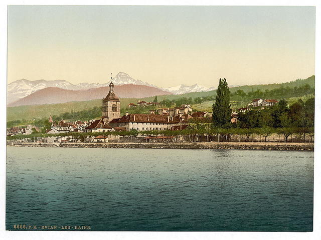 [Evian-les-Bains, Geneva Lake, Switzerland (i.e., France)]