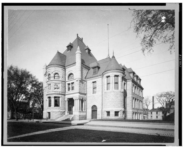 [Exterior of public library, Lowell, Massachusetts]