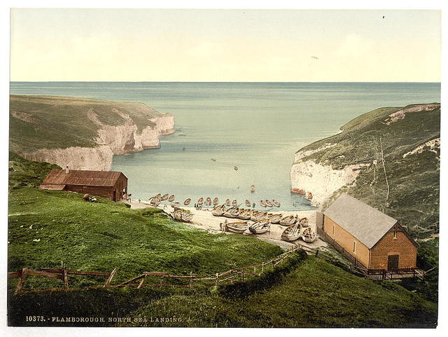 [Flamborough, North Sea landing, Yorkshire, England]