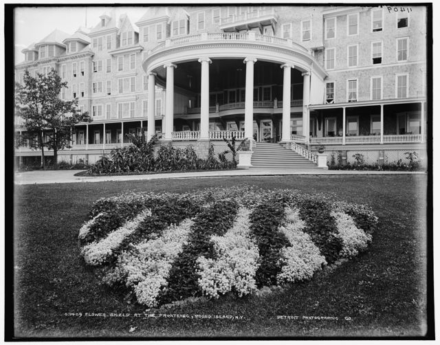 Flower shield at the Frontenac, Round Island, N.Y.