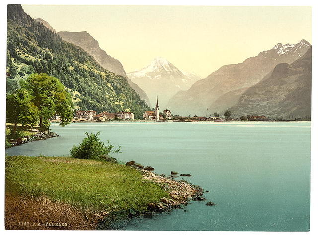 [Fluelen, general view, Lake Lucerne, Switzerland]