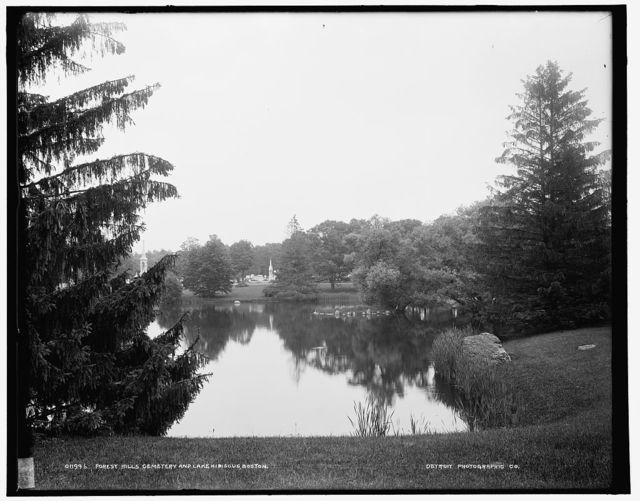 Forest Hills Cemetery and Lake Hibiscus, Boston