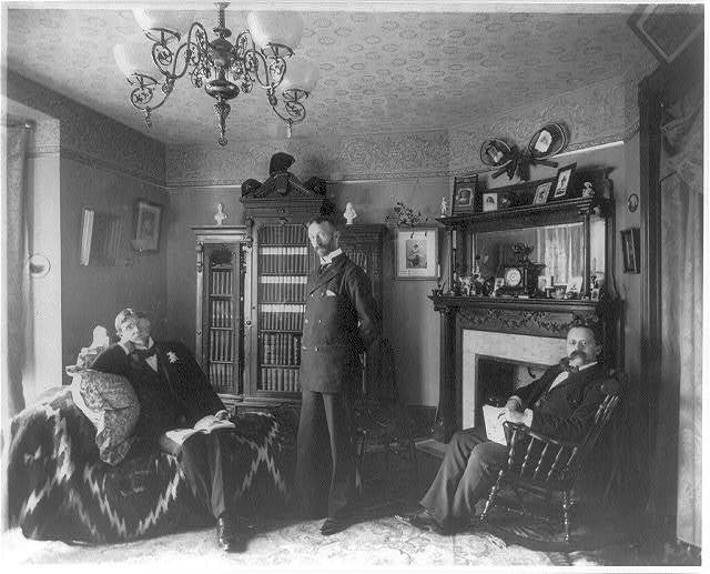 [Frances Benjamin Johnston, 1864-1952, with three male friends]