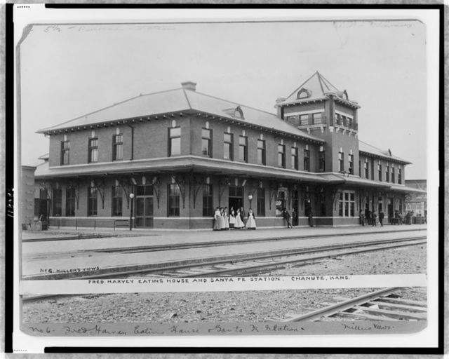 Fred Harvey eating house and Santa Fe Station, Chanute, Kans.