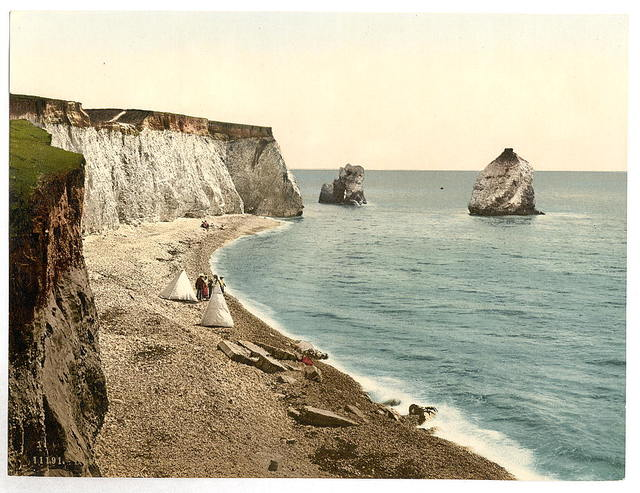 [Freshwater Bay Arch and Stag Rocks, Isle of Wight, England]