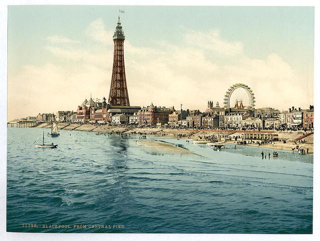 [From Central Pier, Blackpool, England]