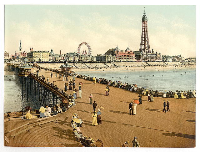 [From North Pier, Blackpool, England]