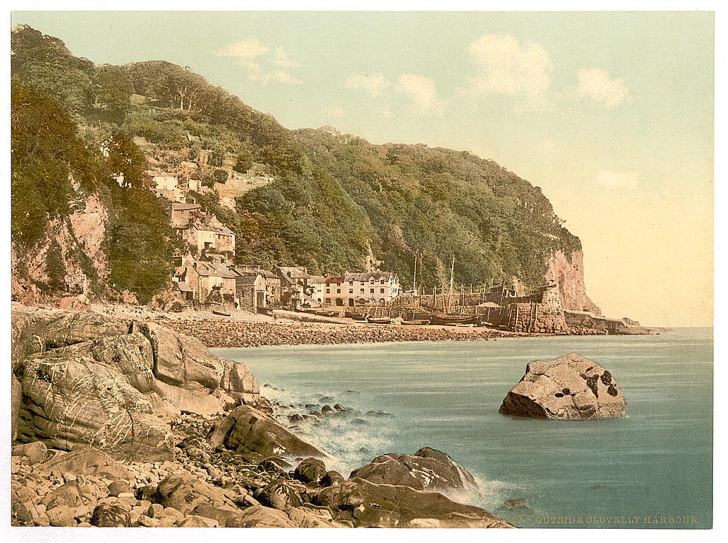 [From the harbor, Clovelly, England]