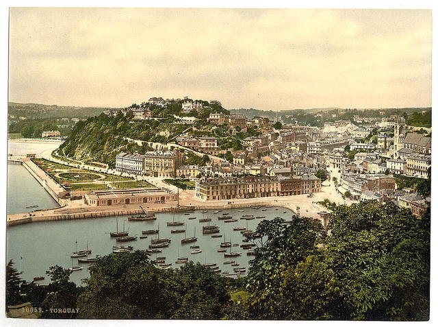 [From the hill, Torquay, England]