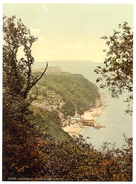 [From the Hobby Drive, Clovelly, England]