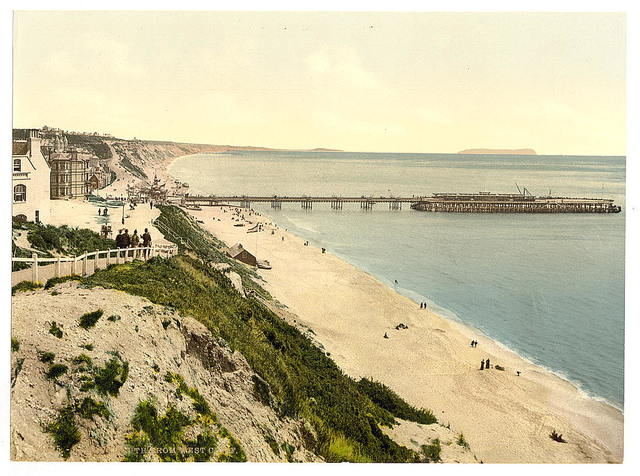 [From the West Cliff, Bournemouth, England]