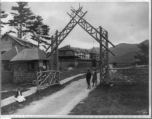 Gateway to Oak Mt. Rserve Resort hotel in the Adirondack Mts., N.Y.