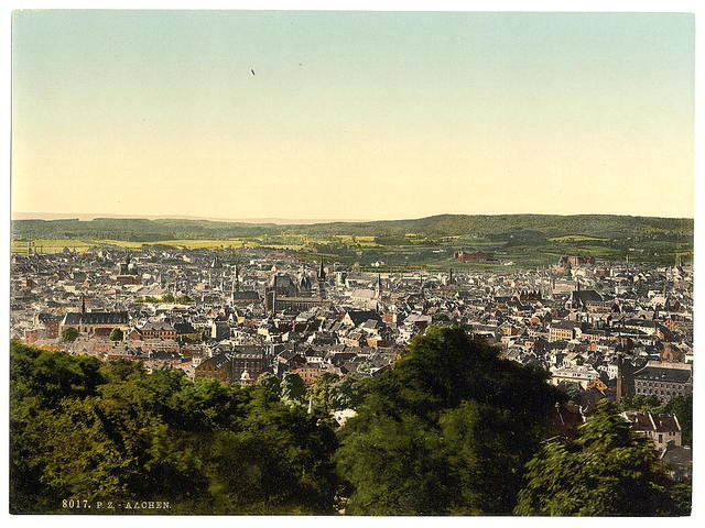 [General view, Aachen, the Rhine, Germany]