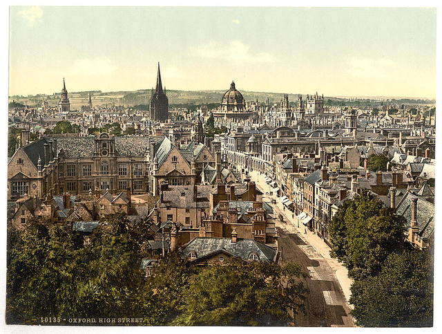 [General view and High Street, Oxford, England]