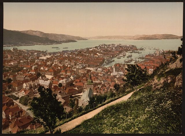 [General view from Fjeldveien, Bergen, Norway]