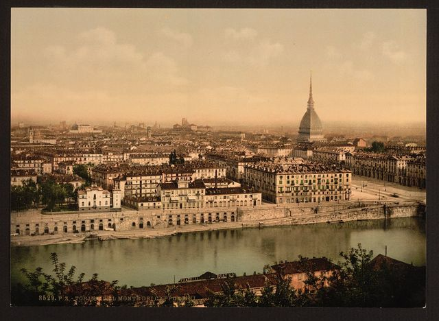 [General view from Mount of the Capuchins, Turin, Italy]