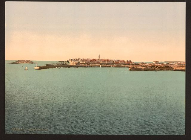 [General view from the fort, St. Malo, France]