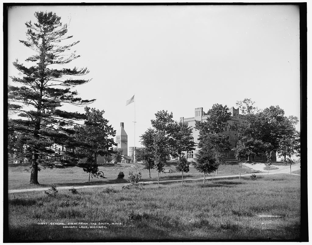 General view from the south, M.M.A., Orchard Lake, Michigan