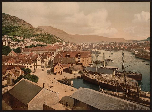 [General view from Walkendorff's Tower, Bergen, Norway]
