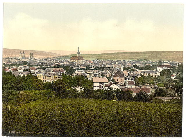[General view, Naumburg on the Saale, Saxony, Germany]