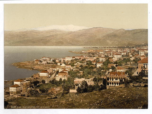 [General view, with Lebanon in the distance, Beyrout, Holy Land, (i.e., Beirut, Lebanon)]