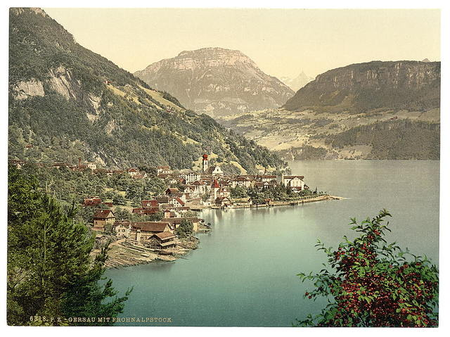 [Gersau and Frohnalpstock, Lake Lucerne, Switzerland]