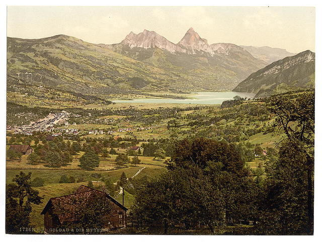 [Goldau, with Mythen, Lake Lucerne, Switzerland]