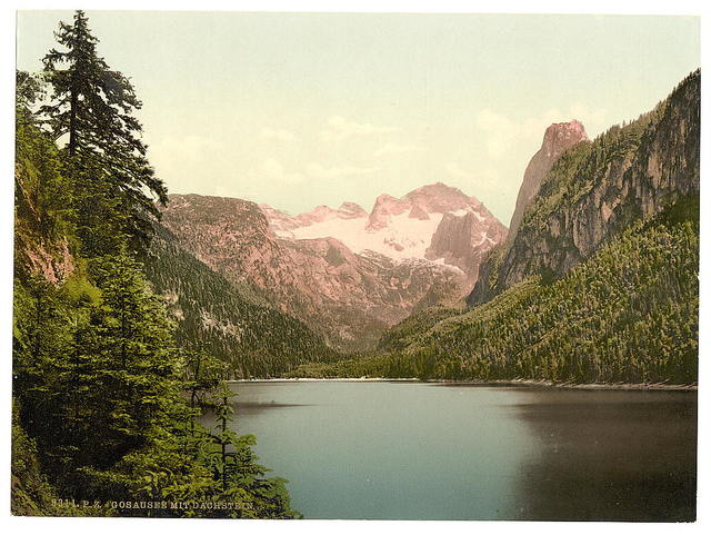 [Gosausee and Dachstein, Upper Austria, Austro-Hungary]