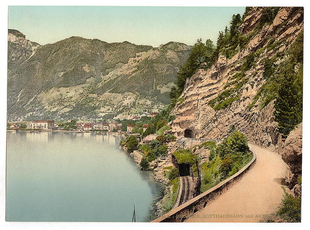 [Gothard Tunnel and the Axenstrasse, Lake Lucerne, Switzerland]
