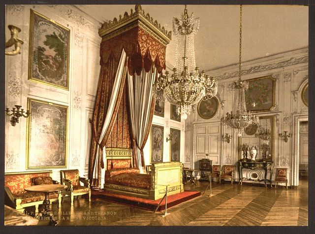 [Grand Trianon, chamber of Queen Victoria, Versailles, France]