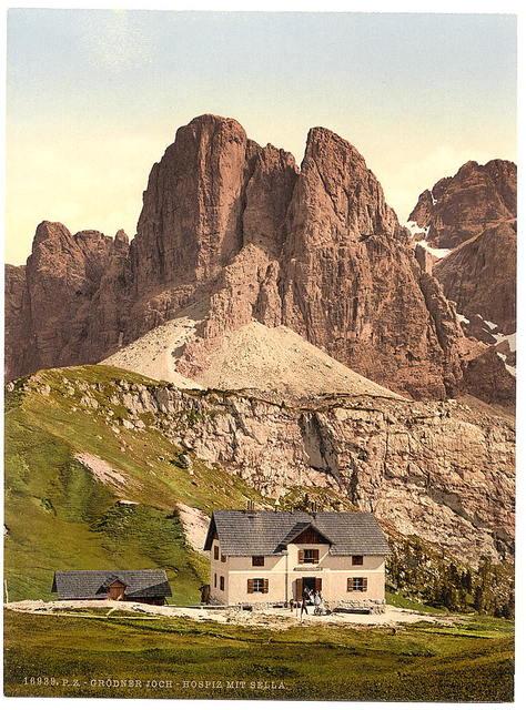 [Grodnerjoch, hospice and Sella, Tyrol, Austro-Hungary]