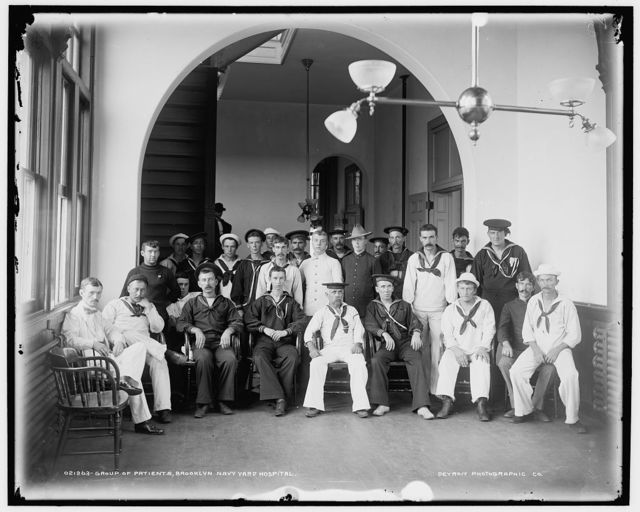 Group of patients, Brooklyn Navy Yard Hospital