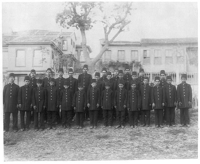 [Group photograph of the students of the Aşiret School] / Abdullah Frères, Constantinople.