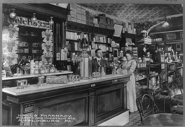 Hall's Pharmacy, Fourth and Chestnut Sts., Mifflinburg, Pa.