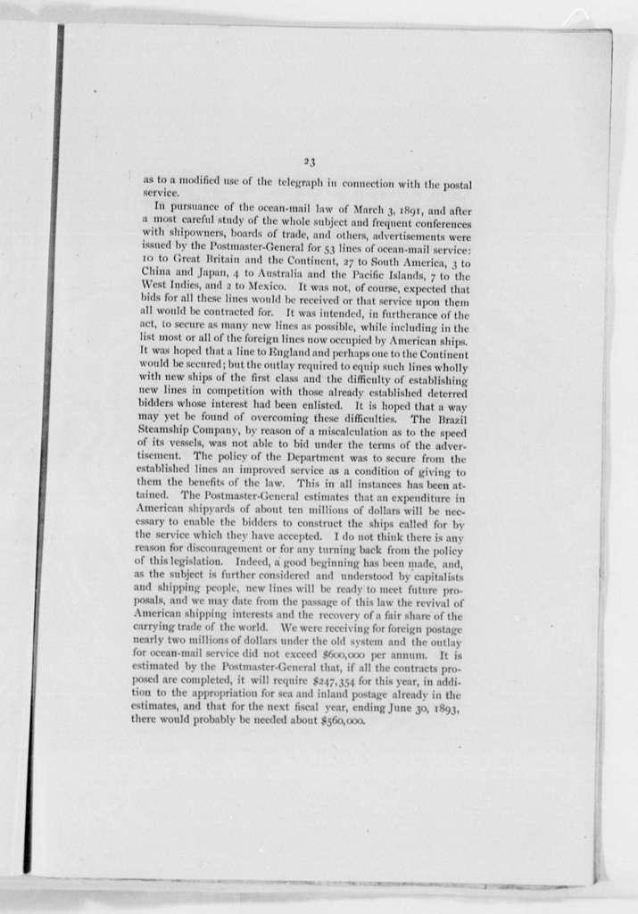 Harrison, Benjamin - Folder 2 of 2