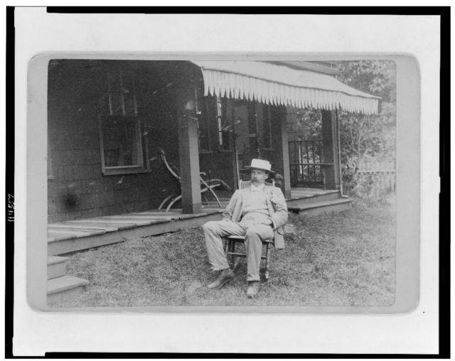 Herbert H. Gilchrist at Moses Jarvis farm, Centreport Cove, Long Island