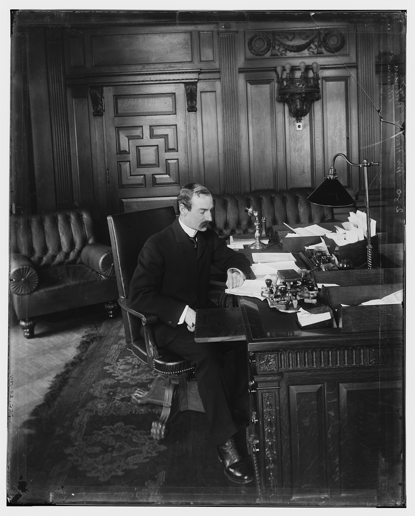 Herbert Putnam in his office. Librarian of Congress
