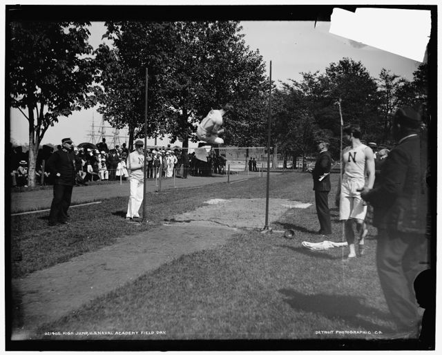 High jump, U.S. Naval Academy field day